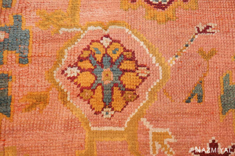 oversized antique oushak turkish rug 49637 flower Nazmiyal