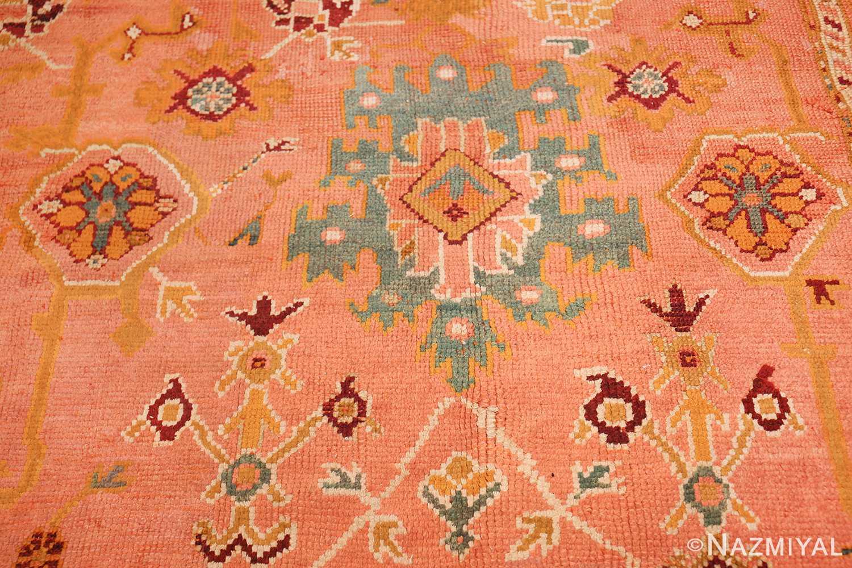 oversized antique oushak turkish rug 49637 green Nazmiyal