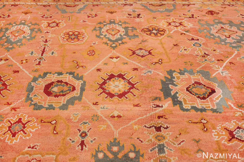 oversized antique oushak turkish rug 49637 lines Nazmiyal