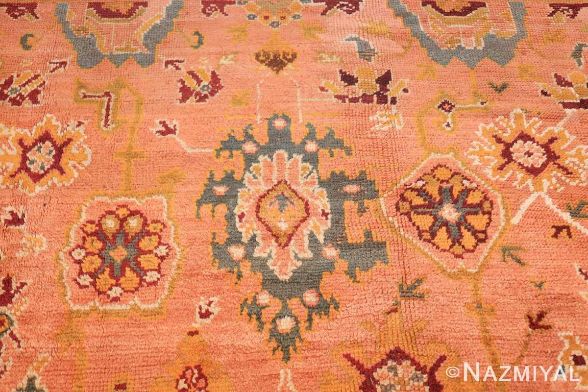 oversized antique oushak turkish rug 49637 twin Nazmiyal