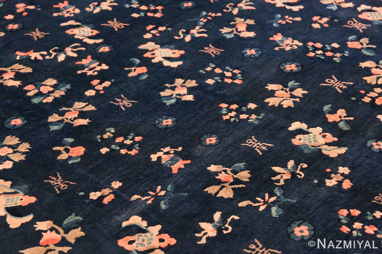 round antique navy background chinese rug 49593 field Nazmiyal