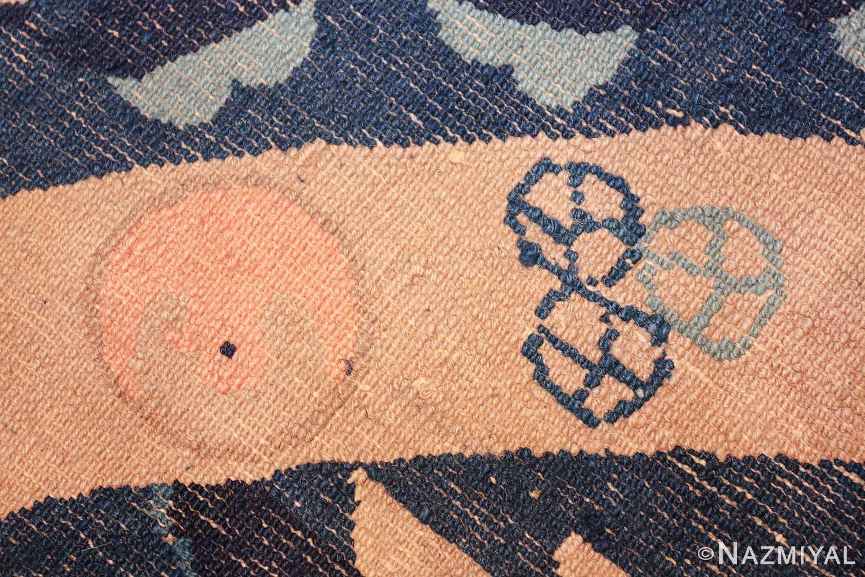 round antique navy background chinese rug 49593 knots Nazmiyal