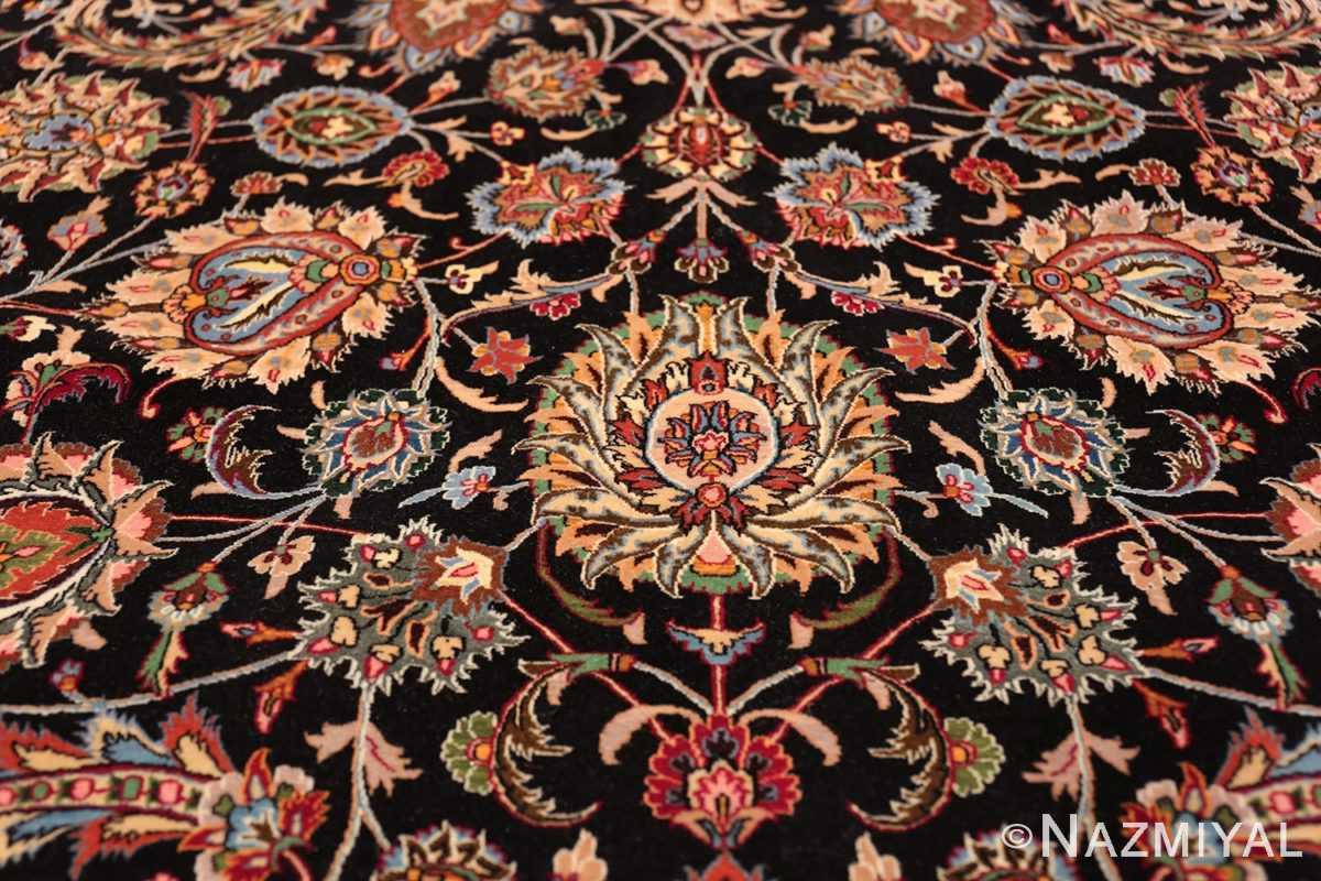 silk and wool fine floral vintage khorassan persian rug 60018 boteh Nazmiyal