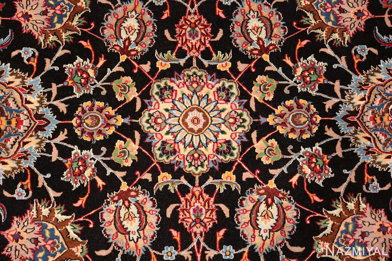 silk and wool fine floral vintage khorassan persian rug 60018 center Nazmiyal