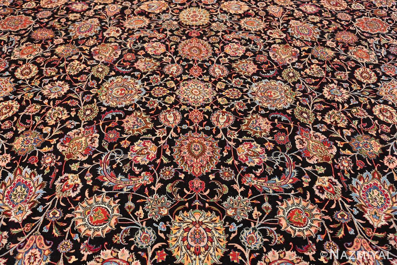 silk and wool fine floral vintage khorassan persian rug 60018 field Nazmiyal