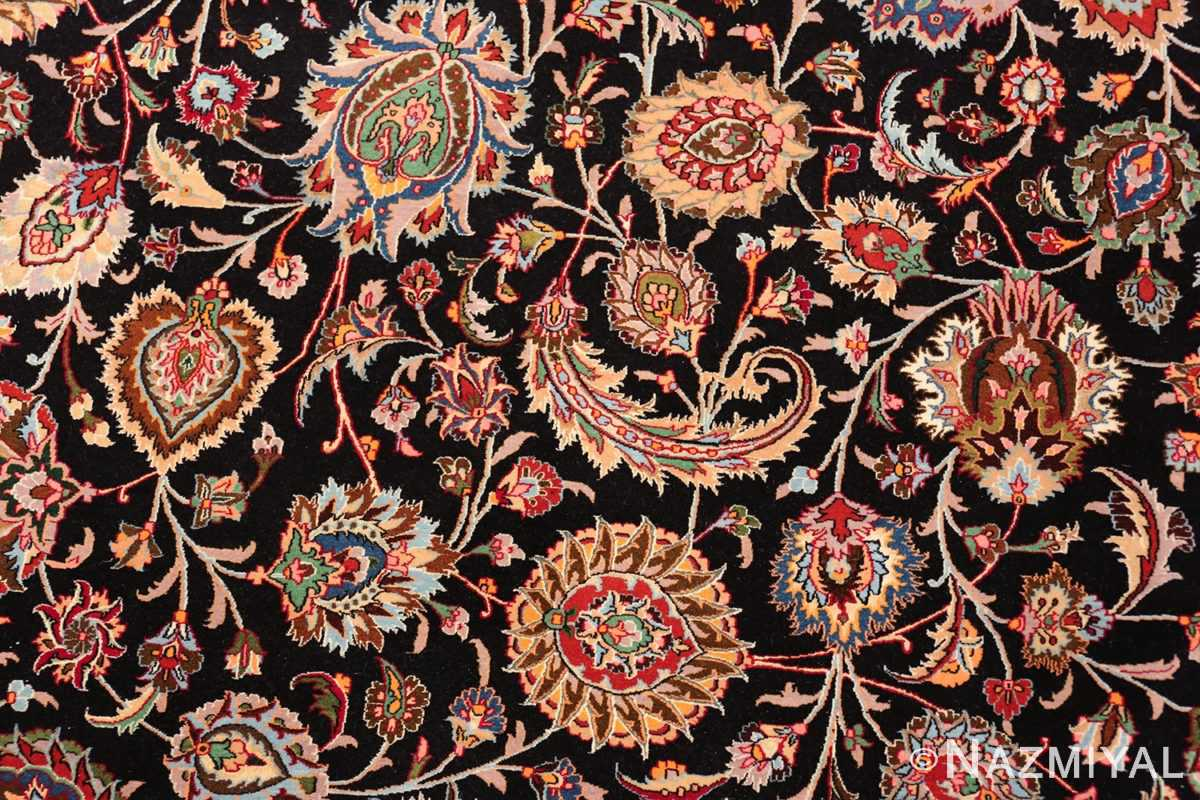 silk and wool fine floral vintage khorassan persian rug 60018 flowers Nazmiyal