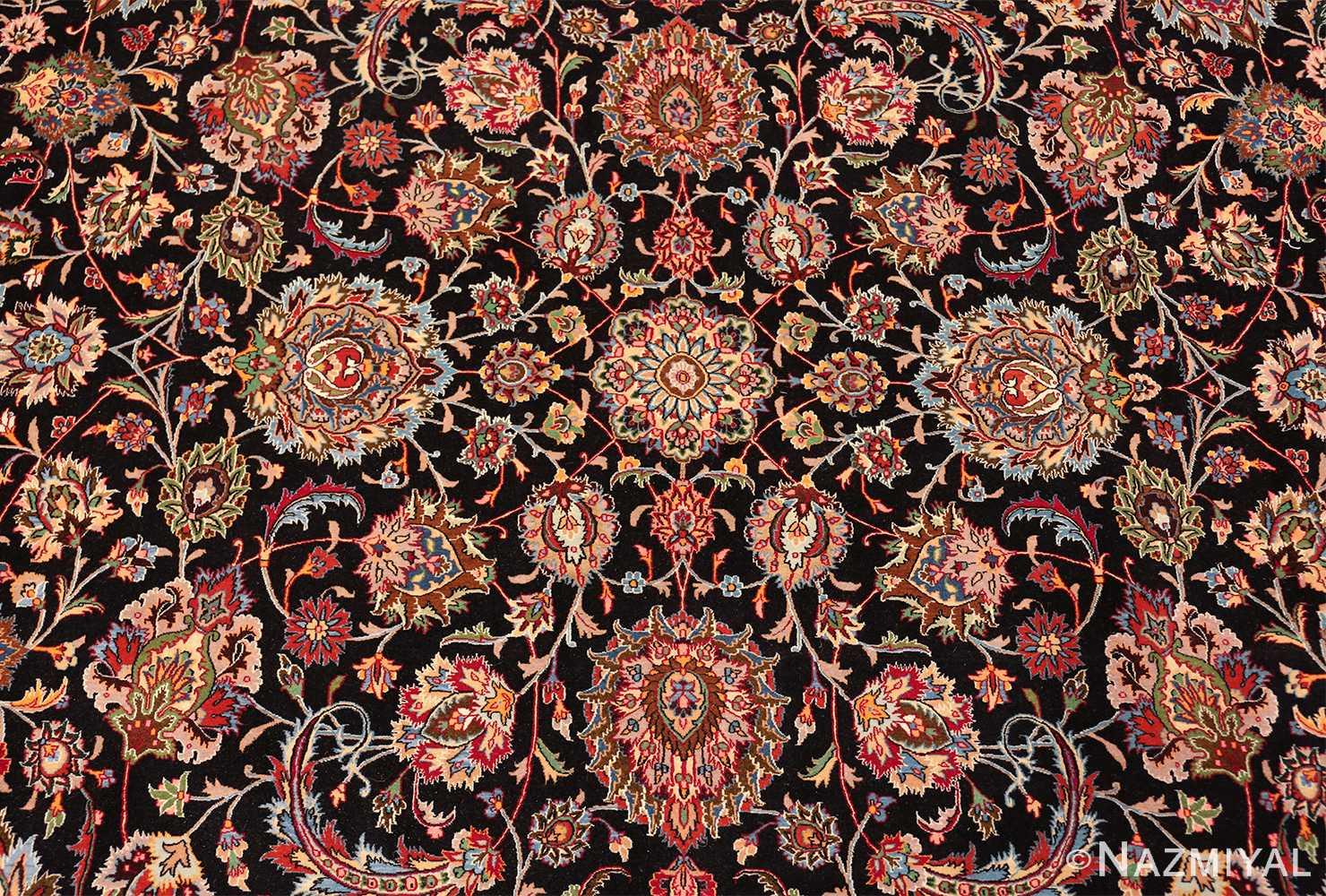 silk and wool fine floral vintage khorassan persian rug 60018 medallion Nazmiyal