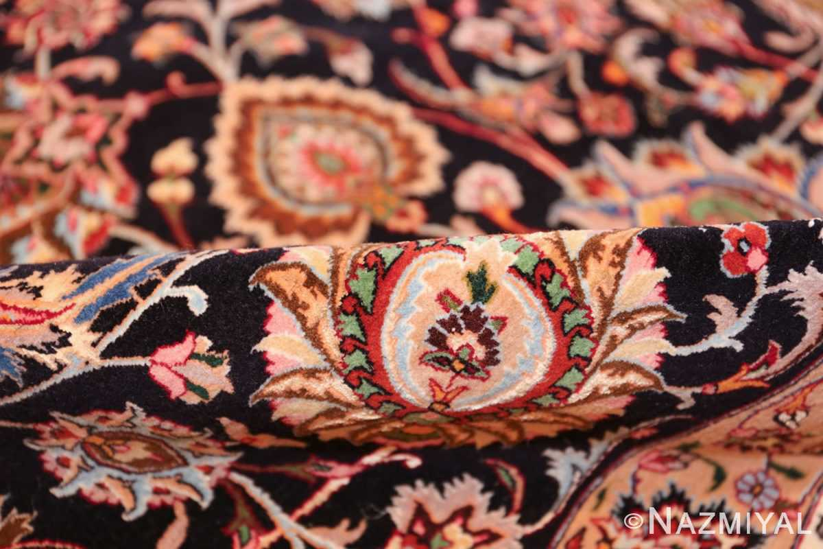 silk and wool fine floral vintage khorassan persian rug 60018 pile Nazmiyal