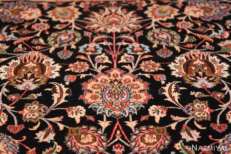 silk and wool fine floral vintage khorassan persian rug 60018 top Nazmiyal
