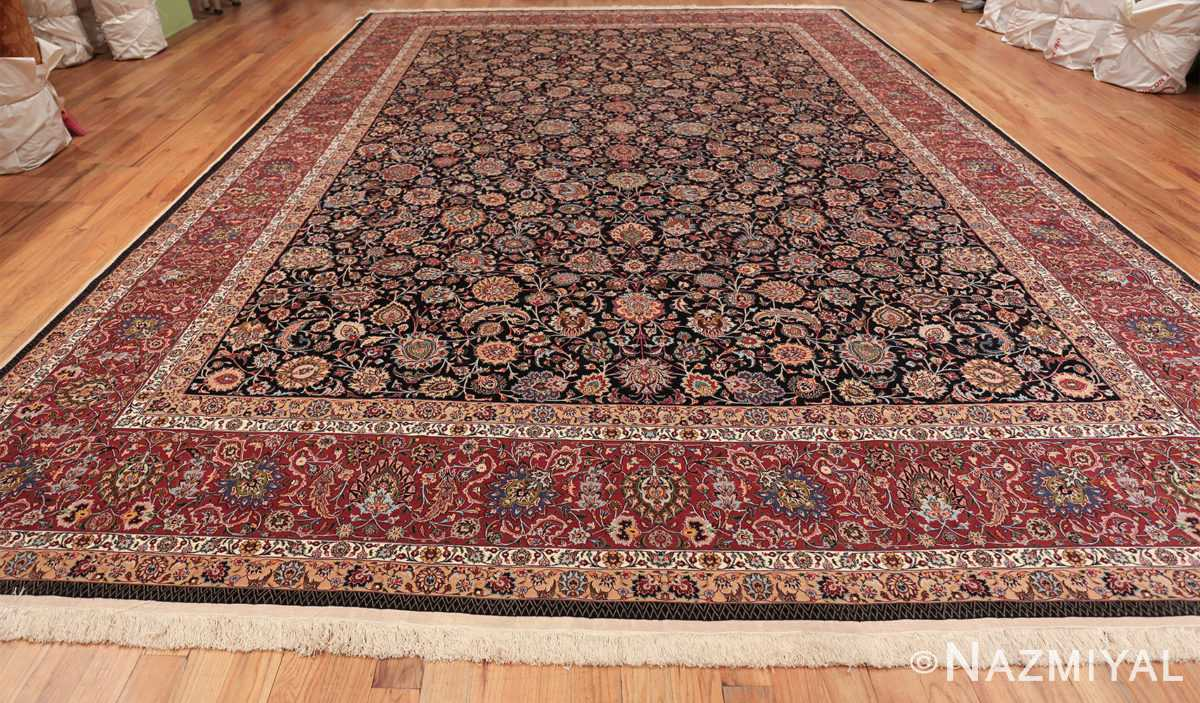 silk and wool fine floral vintage khorassan persian rug 60018 whole Nazmiyal