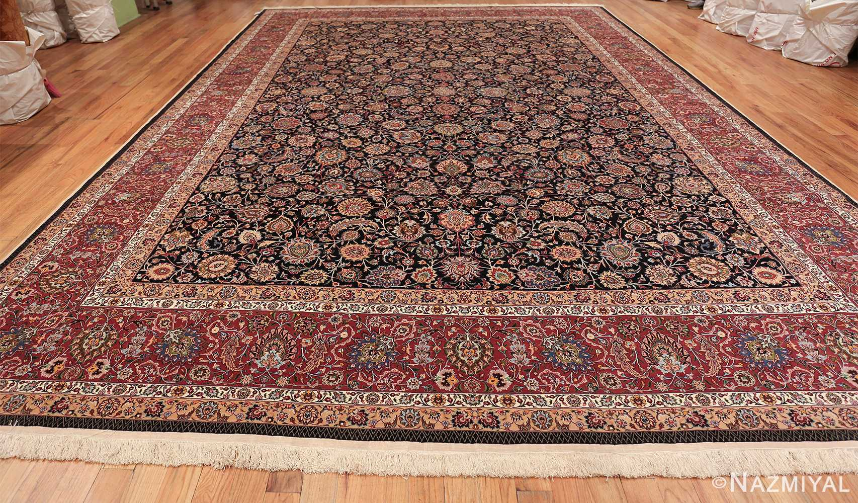 silk and wool fine floral vintage khorassan persian rug 60018 whole Nazmiyal
