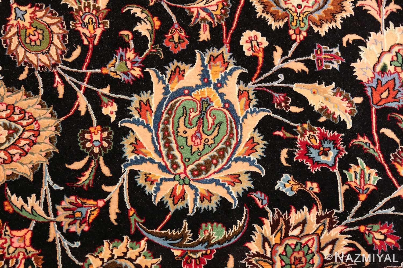 silk and wool fine floral vintage khorassan persian rug 60018 yellow Nazmiyal