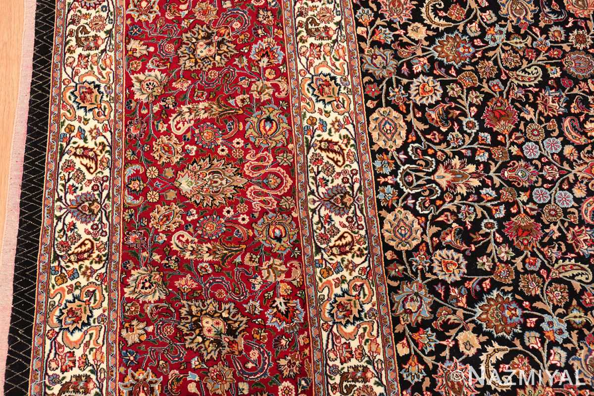 silk and wool vintage khorassan persian rug 60017 border Nazmiyal