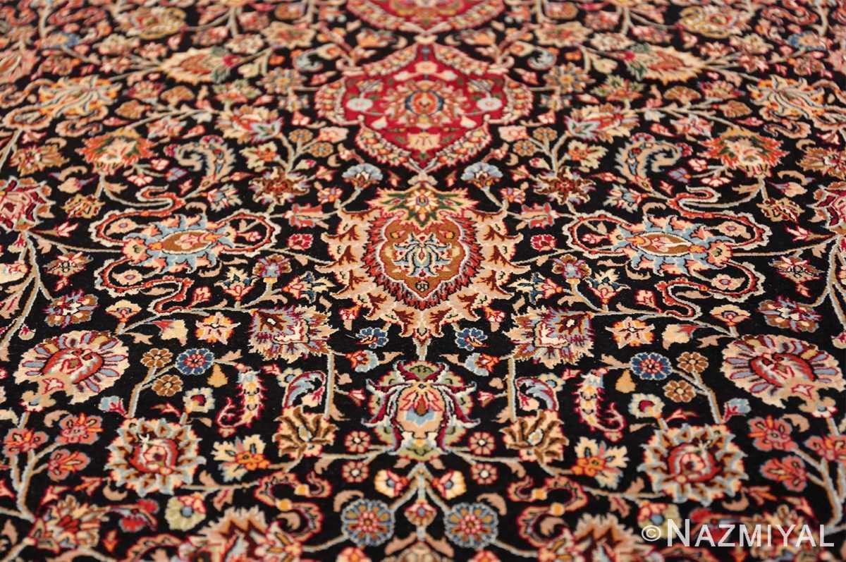 silk and wool vintage khorassan persian rug 60017 boteh Nazmiyal