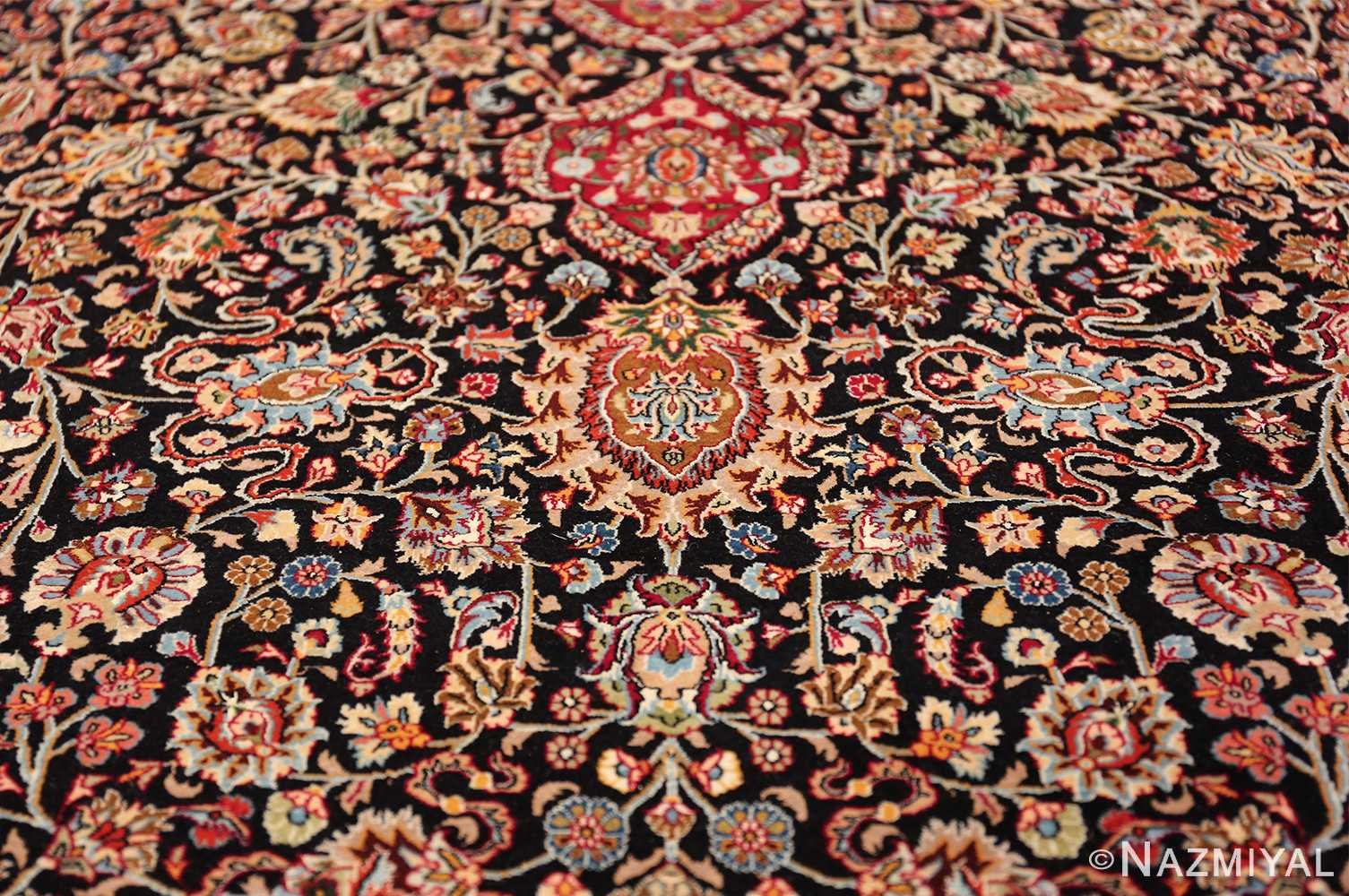 silk and wool vintage khorassan persian rug 60017 boteh Nazmiyal