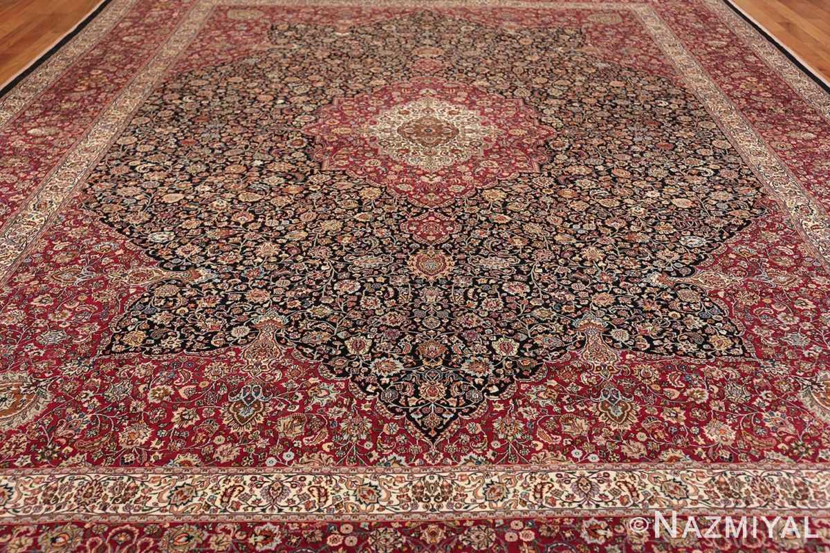 silk and wool vintage khorassan persian rug 60017 field Nazmiyal