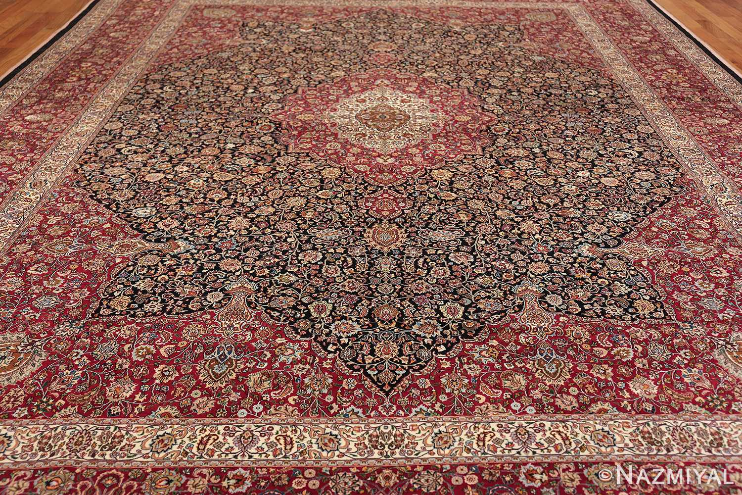 silk and wool vintage khorassan persian rug 60017 field Nazmiyal