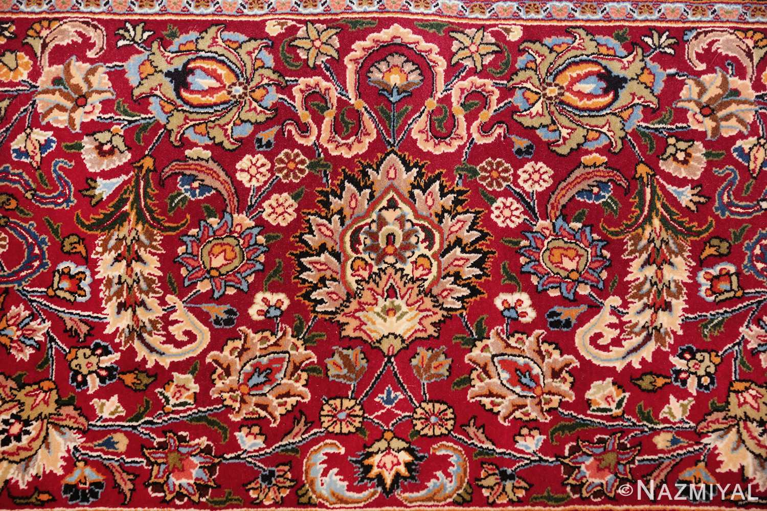 silk and wool vintage khorassan persian rug 60017 fire Nazmiyal