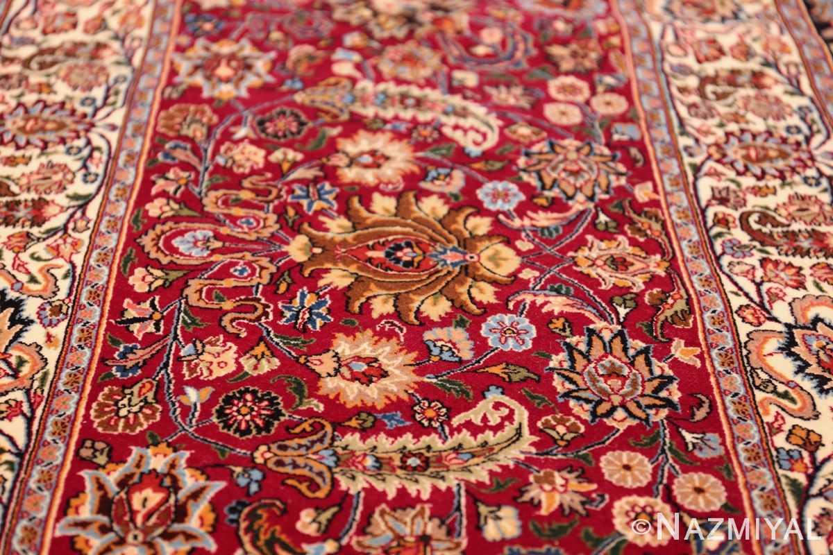 silk and wool vintage khorassan persian rug 60017 flower Nazmiyal