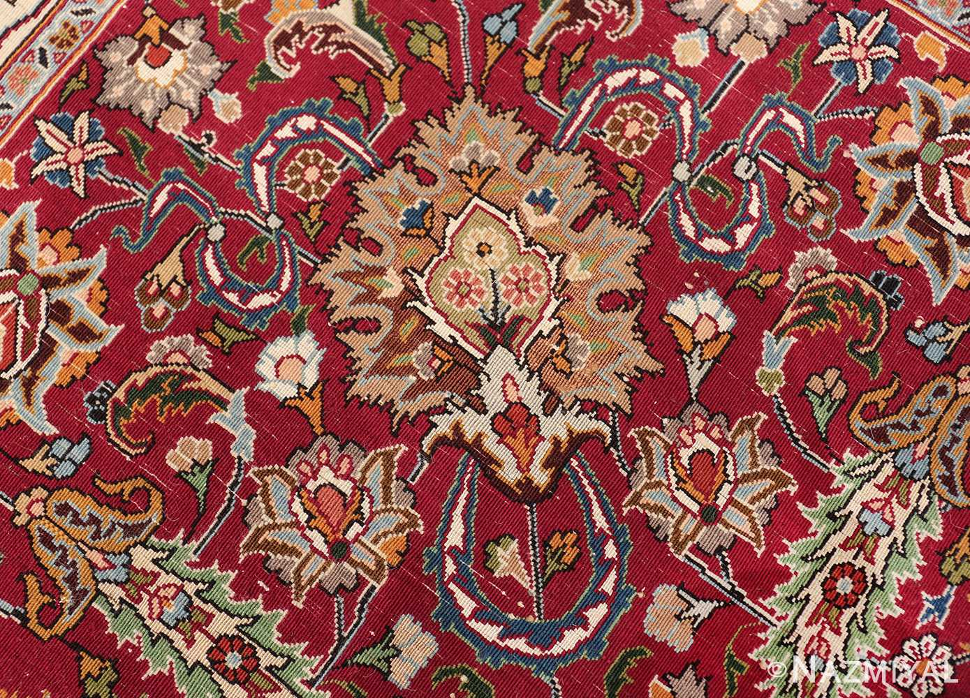silk and wool vintage khorassan persian rug 60017 knots Nazmiyal