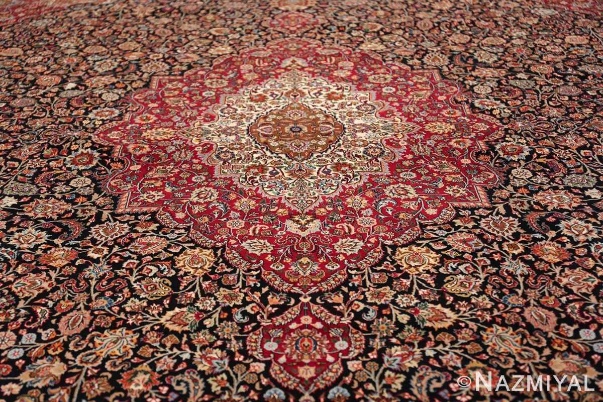 silk and wool vintage khorassan persian rug 60017 medallion Nazmiyal