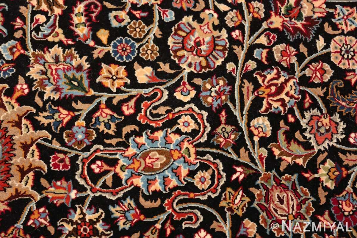 silk and wool vintage khorassan persian rug 60017 scrolls Nazmiyal