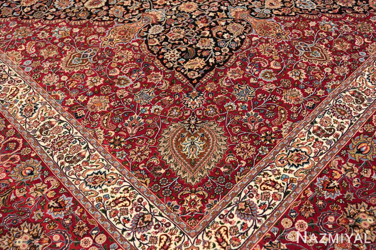 silk and wool vintage khorassan persian rug 60017 side Nazmiyal
