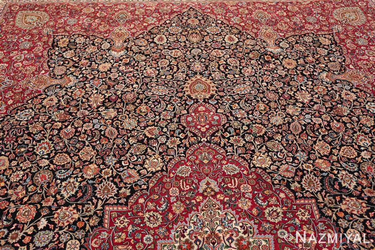 silk and wool vintage khorassan persian rug 60017 top Nazmiyal