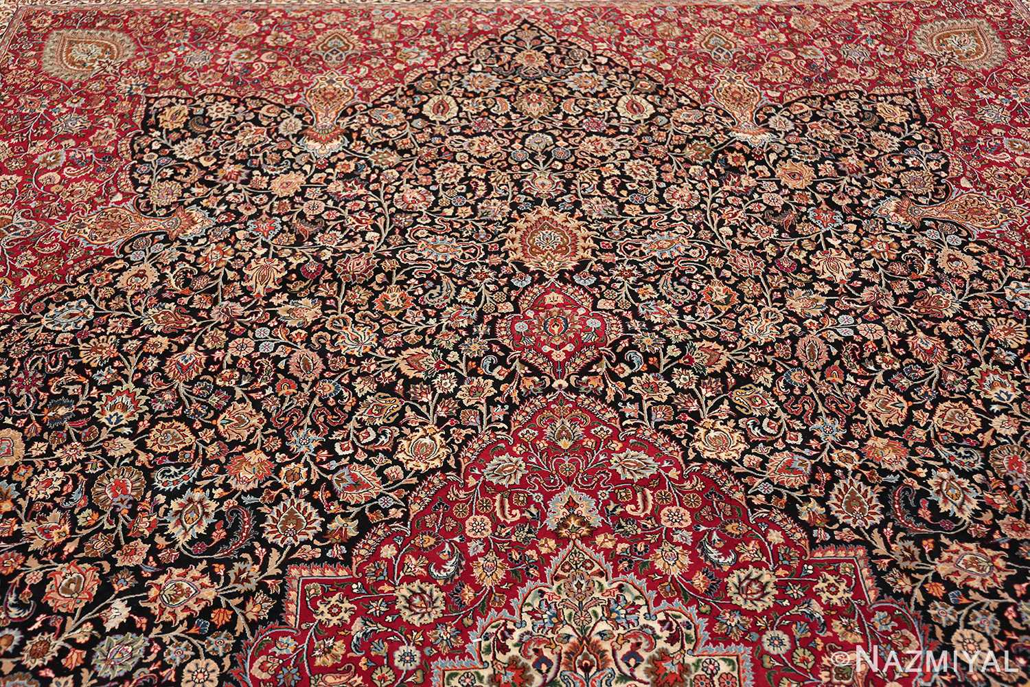 silk and wool vintage khorassan persian rug 60017 top Nazmiyal