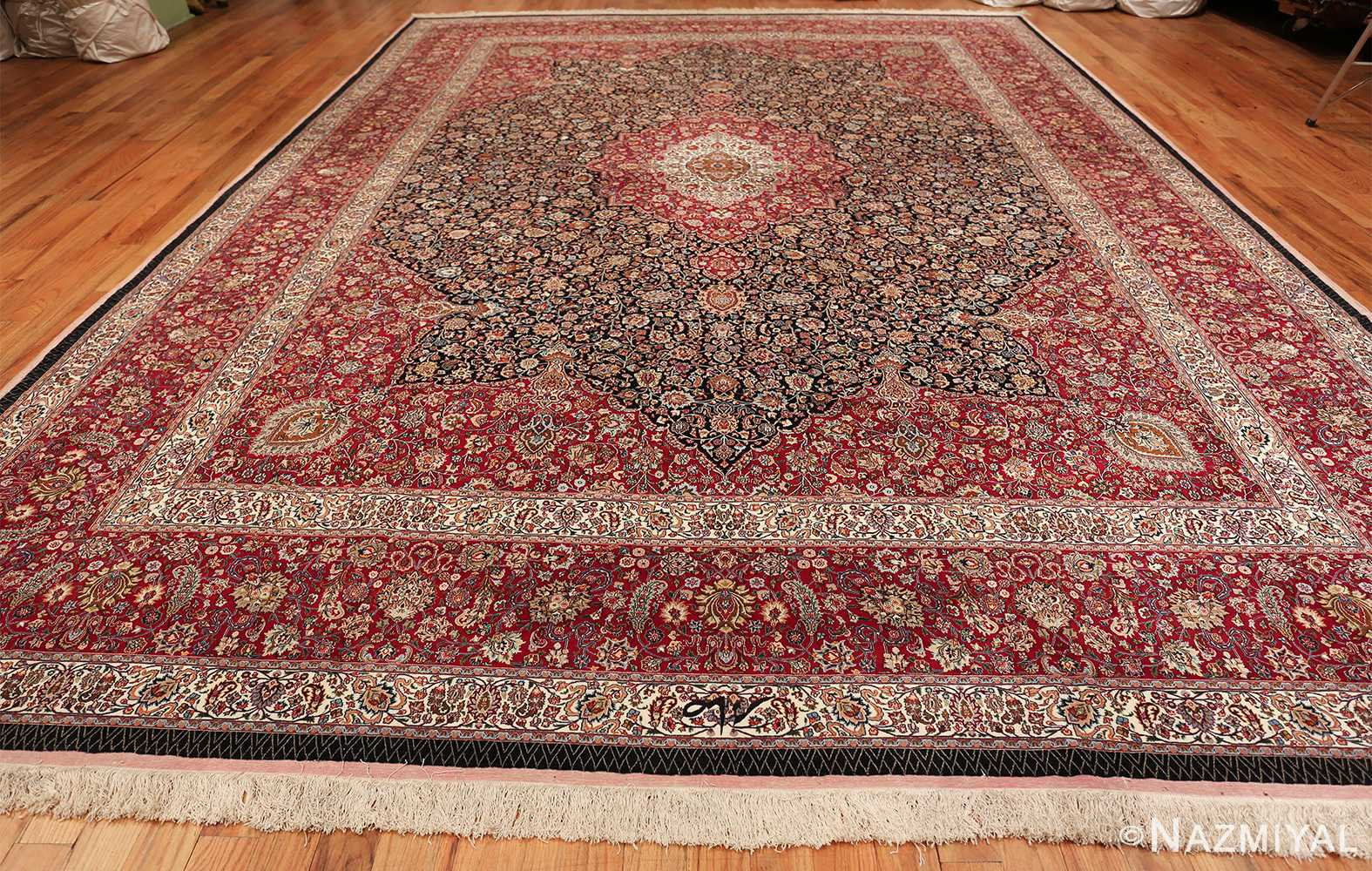 silk and wool vintage khorassan persian rug 60017 whole Nazmiyal