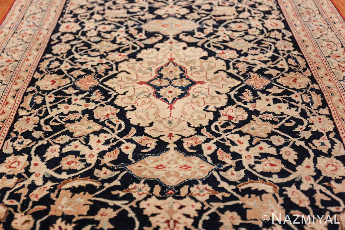 silk and wool vintage nain persian rug 49616 field Nazmiyal