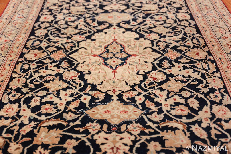 silk and wool vintage nain persian rug 49616 field Nazmiyal