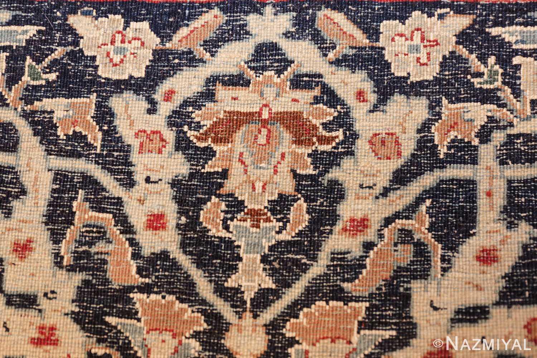 silk and wool vintage nain persian rug 49616 knots Nazmiyal