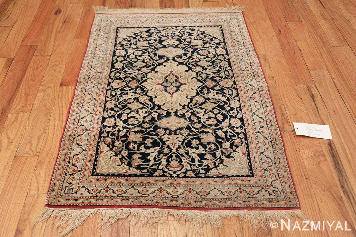 silk and wool vintage nain persian rug 49616 tiara Nazmiyal