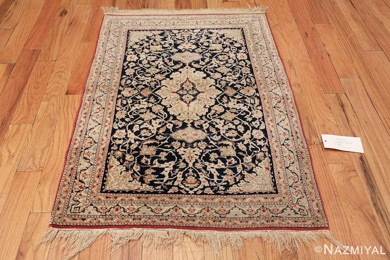 silk and wool vintage nain persian rug 49616 tiara Nazmiyal