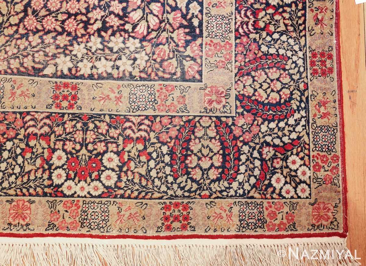 small size antique kerman persian rug 49604 corner Nazmiyal