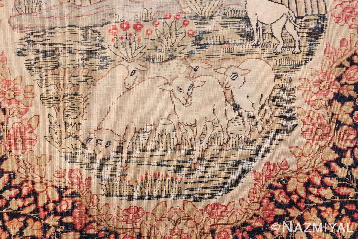 small size antique kerman persian rug 49604 herd Nazmiyal