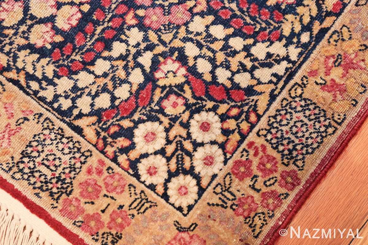 small size antique kerman persian rug 49604 ivory Nazmiyal