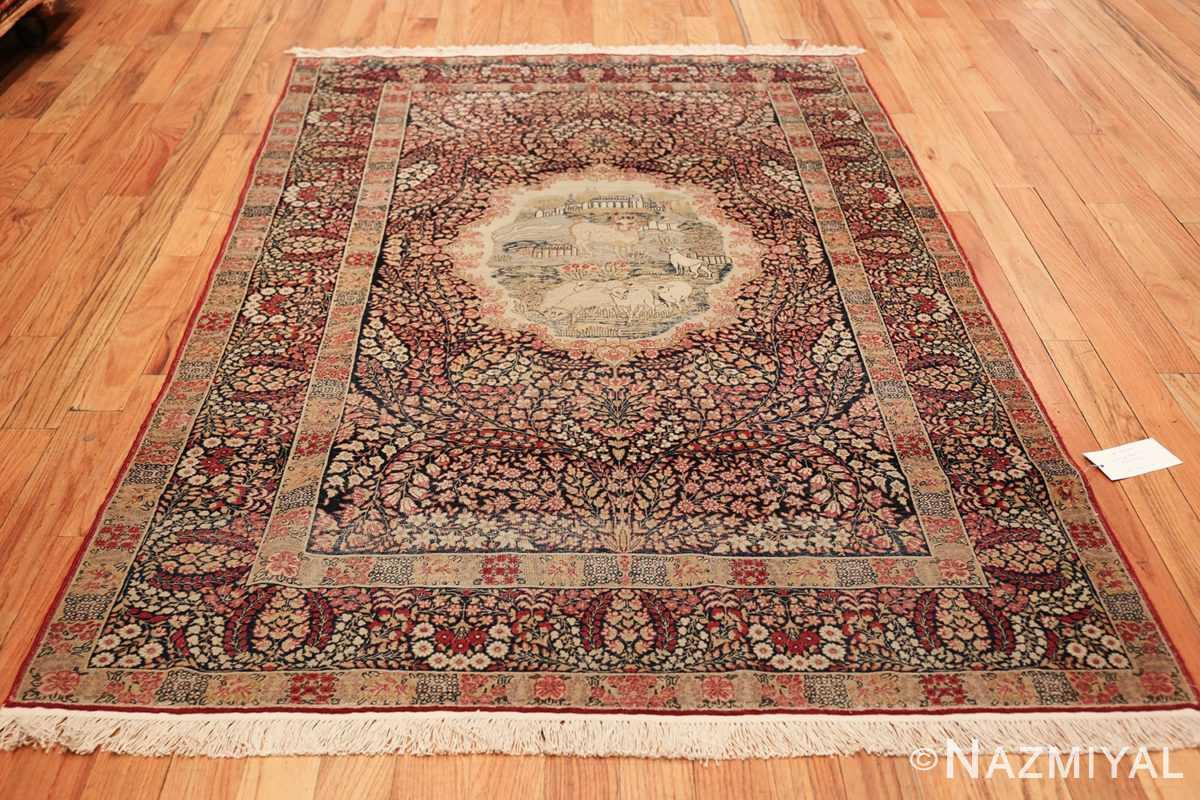 small size antique kerman persian rug 49604 whole Nazmiyal
