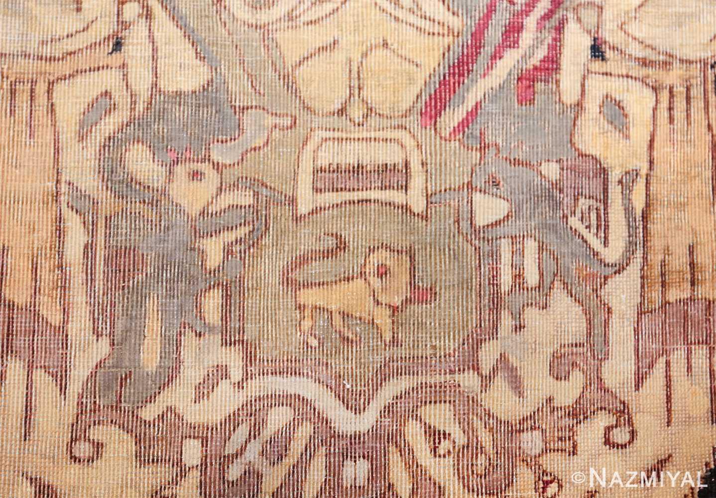 small size antique kerman persian rug 49610 cats Nazmiyal