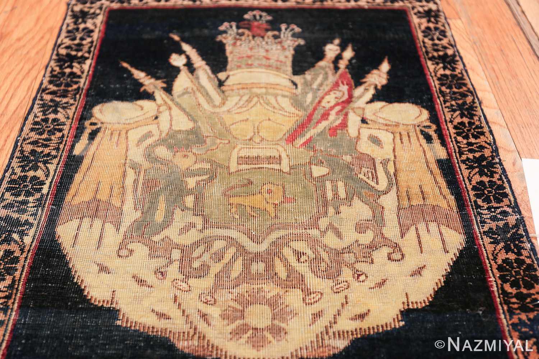 small size antique kerman persian rug 49610 field Nazmiyal