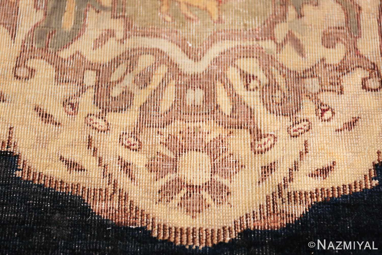 small size antique kerman persian rug 49610 flower Nazmiyal