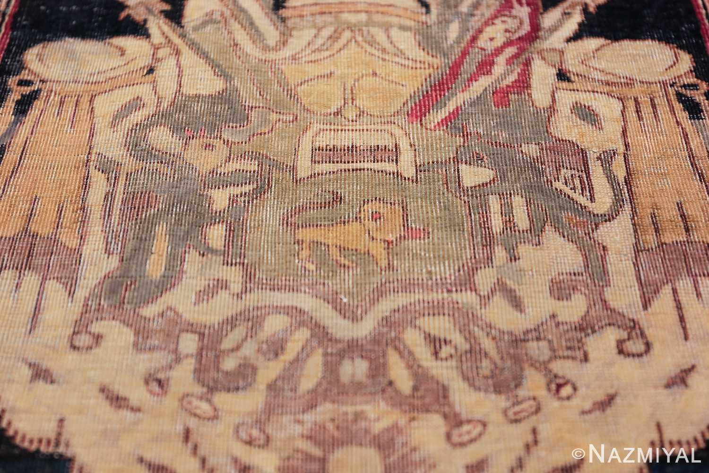 small size antique kerman persian rug 49610 middle Nazmiyal