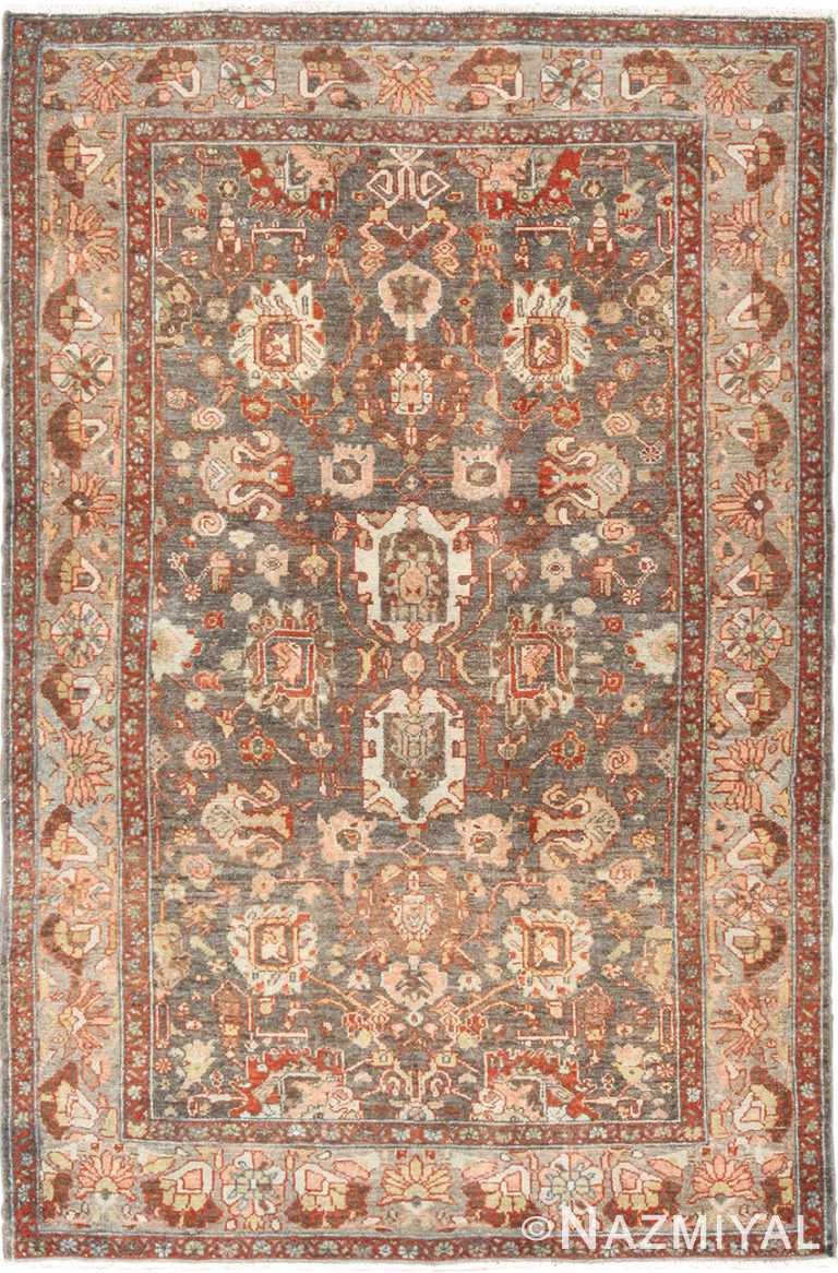Small Scatter Size Grey Antique Persian Malayer Rug 49628 by Nazmiyal