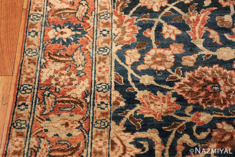 small size antique tabriz persian rug 49646 border Nazmiyal