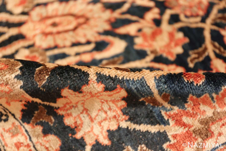 small size antique tabriz persian rug 49646 pile Nazmiyal