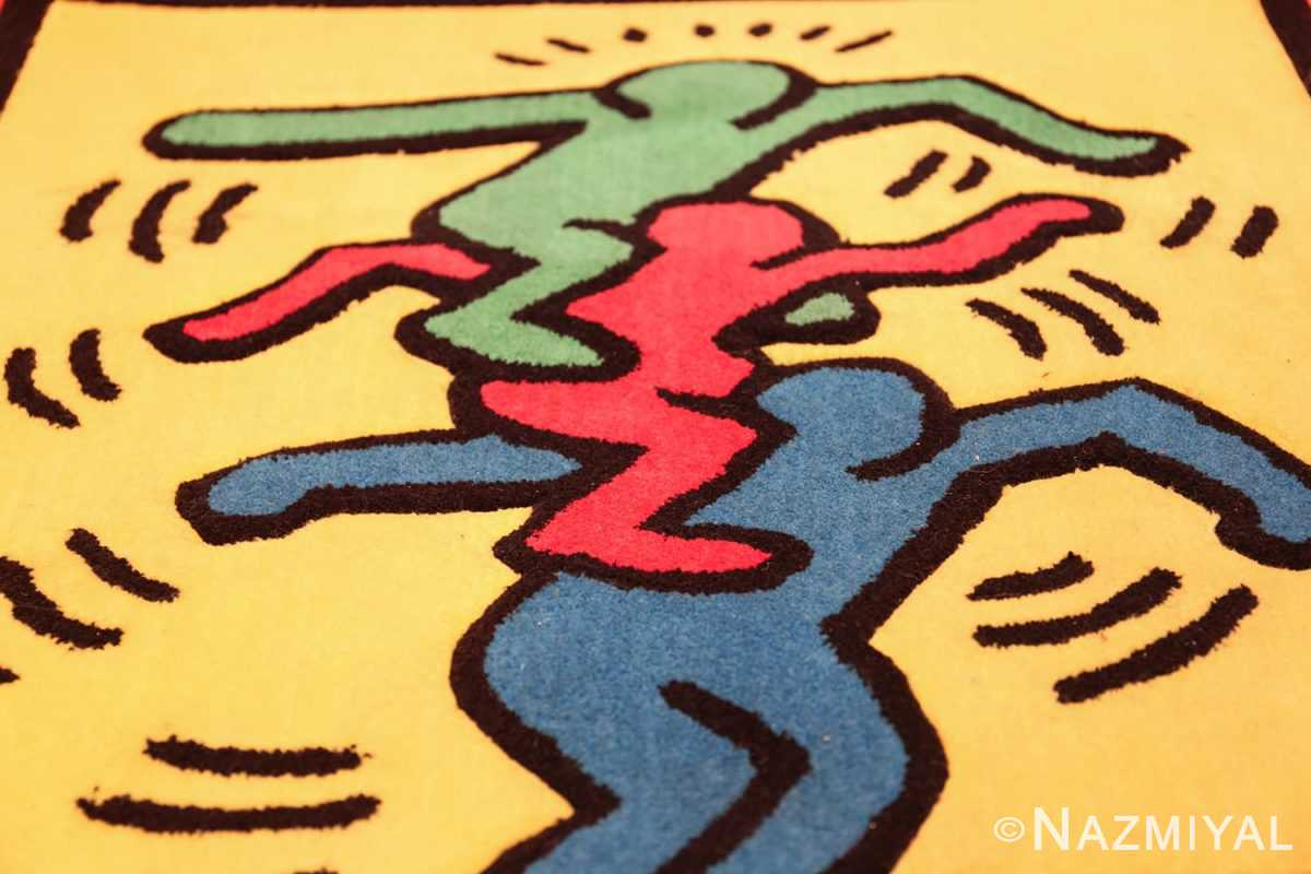 small size vintage american rug designed by keith haring 49660 trio Nazmiyal