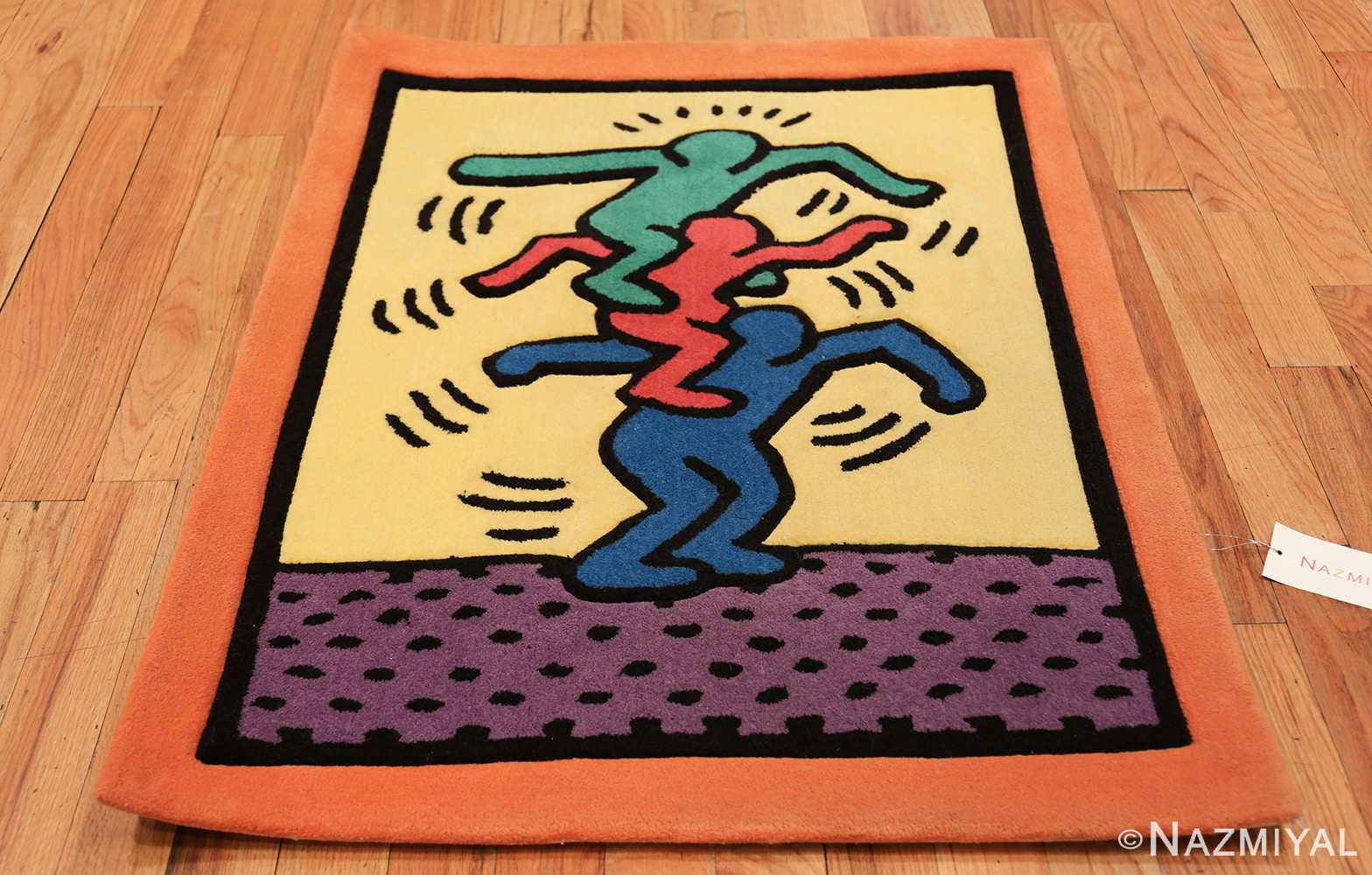 small size vintage american rug designed by keith haring 49660 whole Nazmiyal