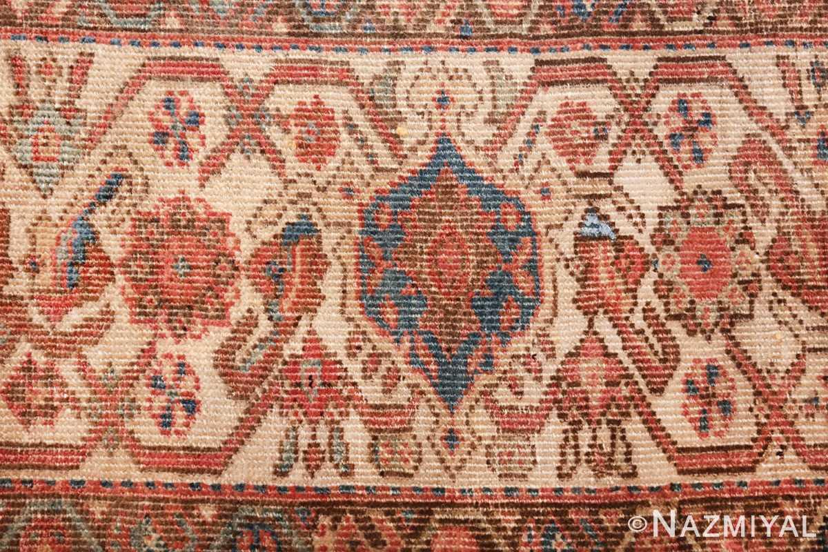 square antique bakshaish persian rug 49656 border Nazmiyal