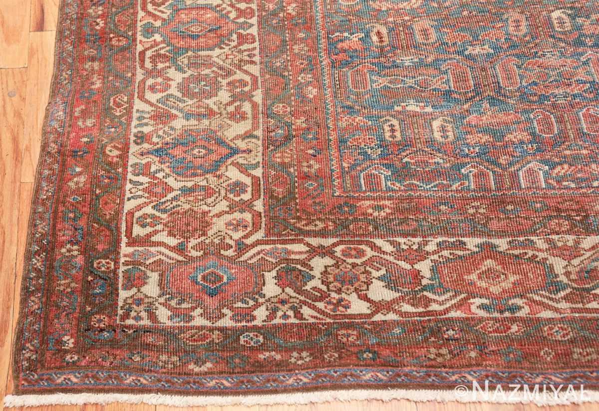 square antique bakshaish persian rug 49656 corner Nazmiyal